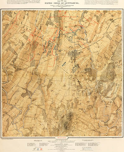 The Bachelder map, click for larger image