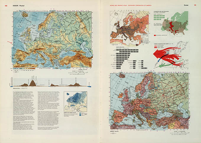World Geo-graphical Atlas, Europe, click for larger image