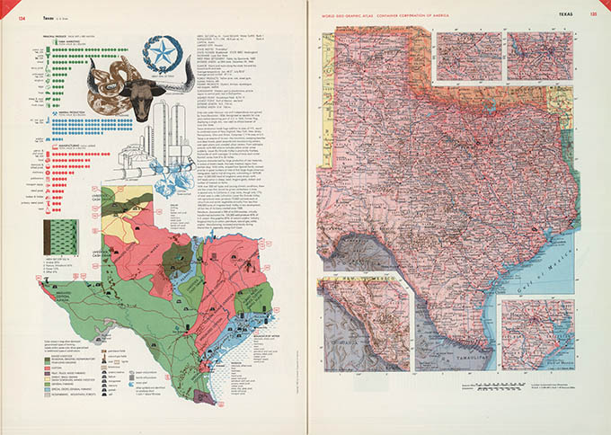 World Geo-graphical Atlas, Texas, click for larger image