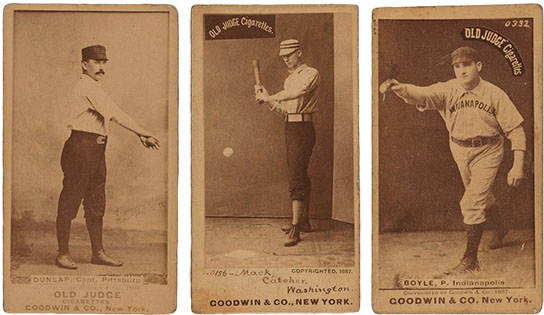Old Judge cards, click for larger image