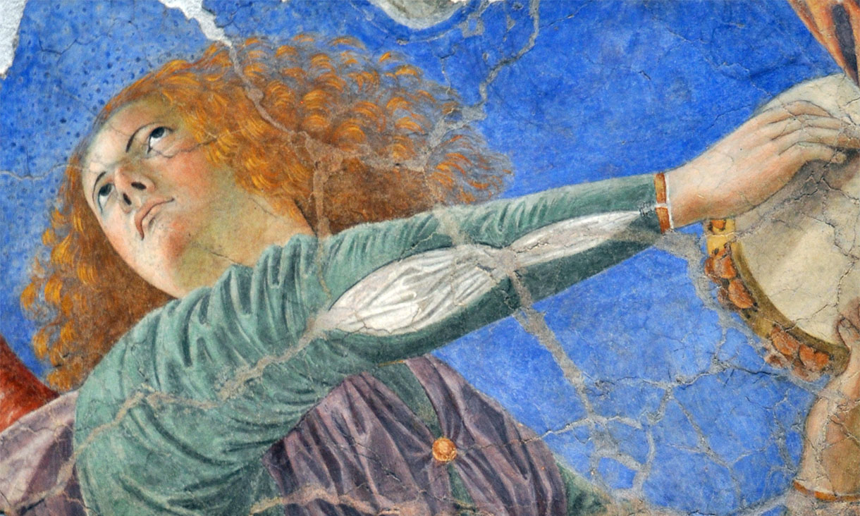 Melozzo da Forlì, Angeli musicanti. Refresh page for more