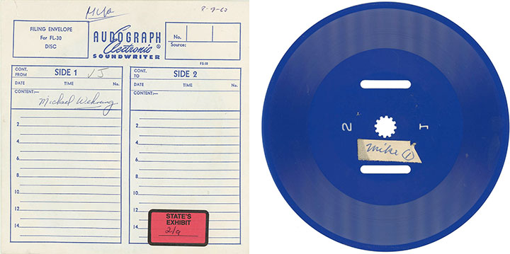 Audograph disc, click for larger image